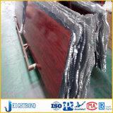 Painel de sanduiche de alumínio de grão de madeira China para decoração