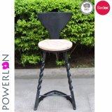 تصميم جديدة يطوي أسود فناء كرسي تثبيت لأنّ أثاث لازم خارجيّ