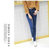 2017 jeans strappati casuali caldi del denim di colore chiaro di vendita