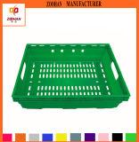 슈퍼마켓 청과 플라스틱 용기 수송 회전율 바구니 (Zhtb12)