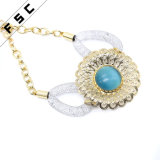 Women Alloy Dubai Banhado a Ouro Sun Flower Wedding Jewelry Set