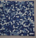 Mattonelle di mosaico naturali di vetro blu del nuovo mare unito spaccato di disegno 2017