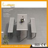 Estilo más populares juegos de mesa de aluminio fundido con el mimbre para jardín Muebles de comedor al aire libre