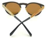 Fqwa161793 venden al por mayor insignia de madera polarizada pequeño marco del laser de las gafas de sol de la lente