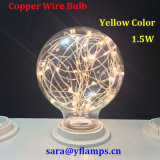 La decoración de vacaciones Cable de cobre de coloridos bombilla LED E27 G125, G95, G80 Lámpara estrella