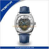 De automatische Wijzerplaat van het Skelet van het Horloge van de Riem van het Leer van het Horloge Tourbillon Echte
