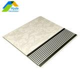 Design de cores padrão de madeira teto de plástico de PVC e painel de parede