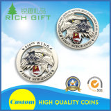カスタム卸し売り記念品軍海軍警察は挑戦硬貨の製造業者に金属をかぶせる