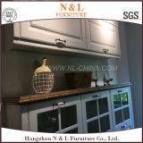 Gabinete de cozinha moderno do PVC Thermofoil com punhos completos
