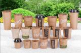 2017 modificó la taza de papel caliente de Brown para requisitos particulares Kraft del café