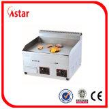 Gauffreuse de gaz avec le contrôle de température indépendant duel, gaz en acier de gauffreuse de dessus de Tableau de Stinaless à vendre