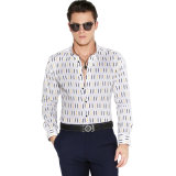 長い袖が付いている新しいデザイン100%Cottonビジネスフォーマルドレスのワイシャツ
