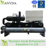 Refrigeratore di acqua raffreddato ad acqua a vite del condizionamento d'aria