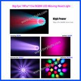 Bewegliches Hauptlicht der LED-DJ Beleuchtung-K10 19PCS*15W
