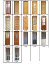 ガラスパネル(KD20A-G)が付いている内部の木のドア(内部の木のドア)