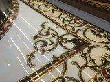 Duradera y pulido de oro rompecabezas Azulejo de piso cristalinas