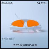 315-540nm Dirm Lb5/266nm, 355nm, 405nm, proteção Eyewear dos vidros de segurança do laser 532nm/laser para o Excimer, ultravioleta, lasers verdes com frame branco 52