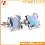 Clip de lazo de encargo del metal de la mancuerna de la joyería de Womans de la insignia de la alta calidad para el recuerdo (YB-HD-06)