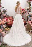 Robe de mariage Chiffon nuptiale de plage de robes de soirée de lacet Ml6856