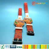 Wristband registrabile del silicone RFID di stampa ICODE SLI di colore completo CMYK
