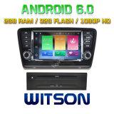 Véhicule DVD de l'androïde 6.0 de faisceau de Witson huit pour Skoda Octavia 2013