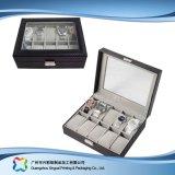 시계 보석 선물 (xc dB 014)를 위한 호화스러운 나무로 되는 서류상 전시 수송용 포장 상자
