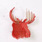 Artesanato de madeira Creative DIY Decoração para casa Deer Head Hanging
