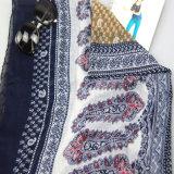 Novo design impresso flor lenço moda acessório para mulheres xales