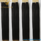 Оптовая торговля Черный Индийский Virgin Реми человеческого волоса ленточных накопителей