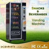 Preto inteligente Snacks e máquina de venda automática de bebidas com pagamento de cartão