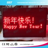 Segno esterno della visualizzazione di messaggio del testo di Scrolling LED di colore rosso P10
