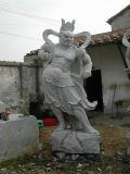 Sculpture animale en pierre grise de granit et découpage pour le patio