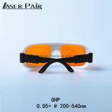 Óculos de Segurança de laser 200-532nm transmitância 50% 315-532nm L-Rating Dirm Lb5 Óculos de atender a marcação