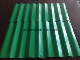 PPGI ondulé en acier de couleur des feuilles de toiture/Toit de tuiles de pont