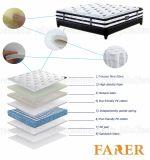 Nuga mejor masaje cama de alta densidad de la espuma de coco Colchón
