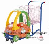 Kind-Einkaufen-Karren-Einkaufen-Laufkatze-Laufkatze-Korb