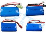 18650 7.4V Pak van de 6600mAh het Li-IonenBatterij voor de Batterij van de Auto RC