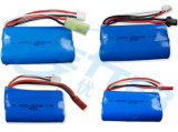 18650 RC 자동차 배터리를 위한 7.4V 6600mAh Li 이온 건전지 팩