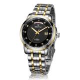 週および日付の表示人の腕時計が付いている宝石類の自動ステンレス鋼