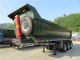 3개의 차축 Hyva 실린더를 가진 80 톤 덤프 트레일러 또는 후방 팁 주는 사람 트레일러 또는 석탄 수송 트레일러