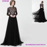 Señora delgada elegante larga alineada formal del vestido de noche de la funda de la nueva manera