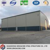 Vorfabrizierte helle Stahlkonstruktion-Werkstatt-Halle
