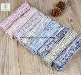 印刷される2017人の方法女性ボイルのマルチ縞はスカーフの工場を設計する