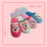 Ladies Winter Warm Indoor Soft Slipper com mais pelúcia