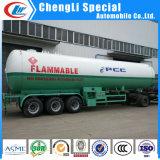 del Tri-Árbol 60000liters del propano del LPG del gas del transporte del petrolero acoplado 30tons semi para el uso del relleno del patín