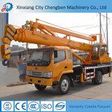 Guindaste de caminhão multifunções com plataforma de cesta