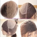 parrucche piene diritte crespe del merletto dei capelli umani delle parrucche della parte anteriore del merletto del merletto del grado 8A dei capelli umani delle parrucche dei capelli mongoli pieni del Virgin per le donne di colore