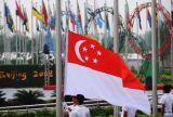 カスタムSunproofの国旗のシンガポールの国旗防水すれば