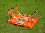 Jogos portáteis da tabela e da cadeira de dobradura para o acampamento ao ar livre
