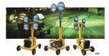 Torrette chiare montate rimorchio mobile duraturo di energia solare LED del proiettore